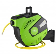 22M air hose reel with retractable - green