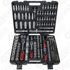 """Kit de chaves de caixa 1/4"""" + 3/8"""" + 1/2"""", 195 peças KS TOOLS"""