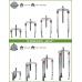 Conjunto Extrator Universal 2 e 3 Pernas gancho fino 120/130mm Kukko K-2030-10+S-C