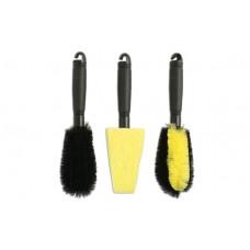 Kit de 3 escovas para limpeza de jantes, LASER