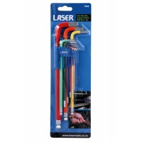 Colour Coded Hex Key Set – Ball End 9pc