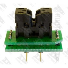 Adapter socket from MSOP8 3x3mm to DIL