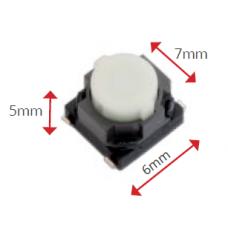 Microswitch tamanho: 6x7x5 mm; Aberto (10 unidades)